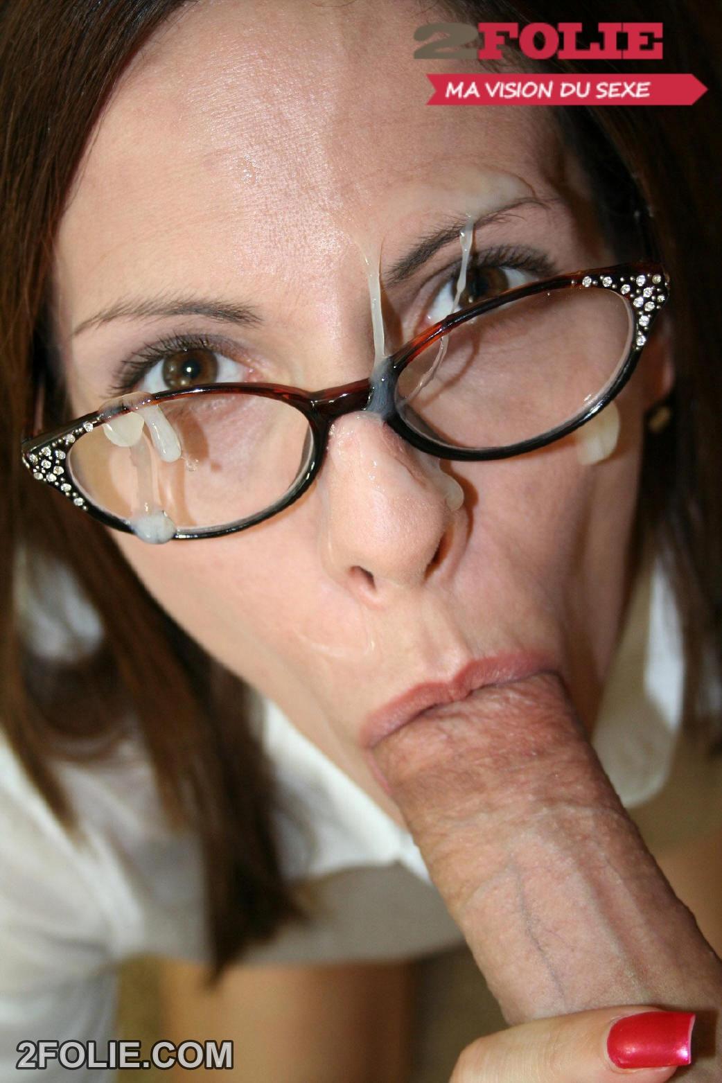 Auf Die Brille Gespritzt