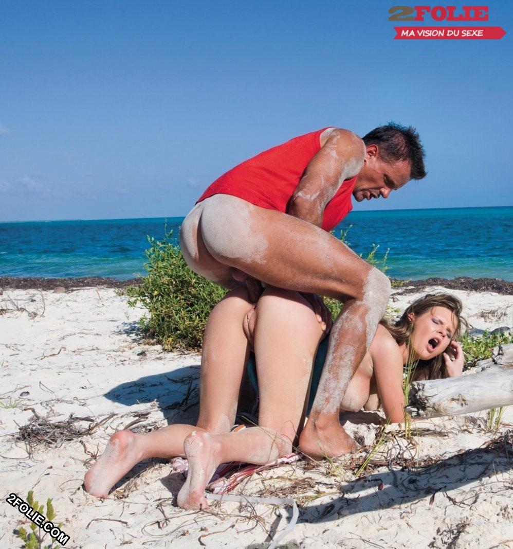Partie de baise de plage