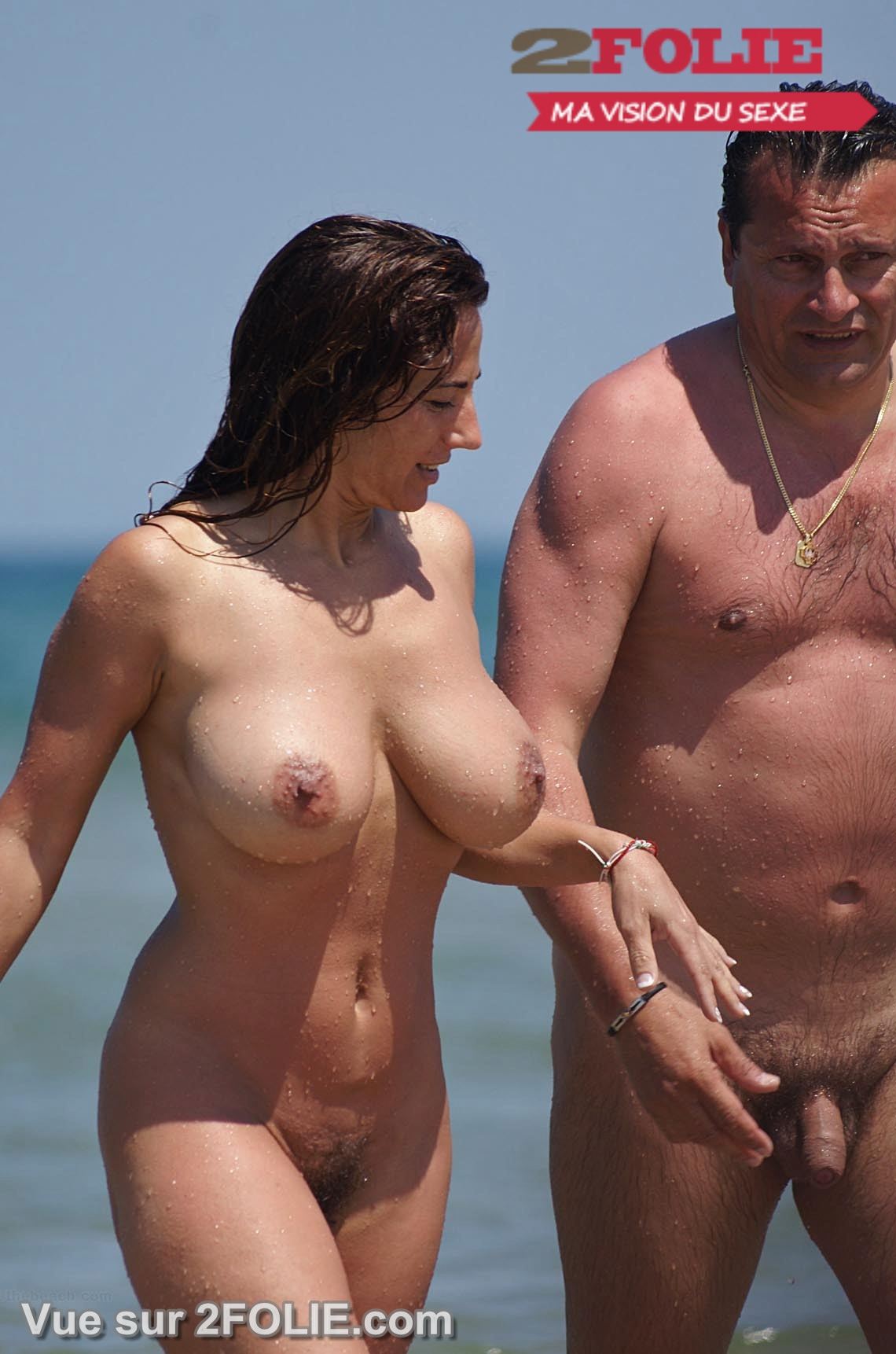 couple photo sexe gros sein plage