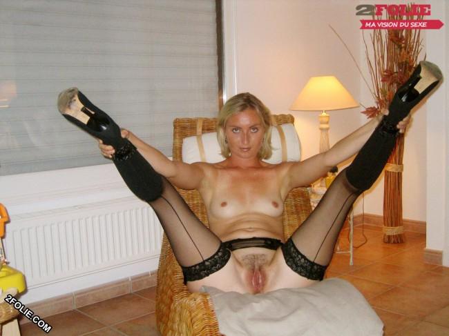 L'entre-jambes d'une femme mature dans un centre