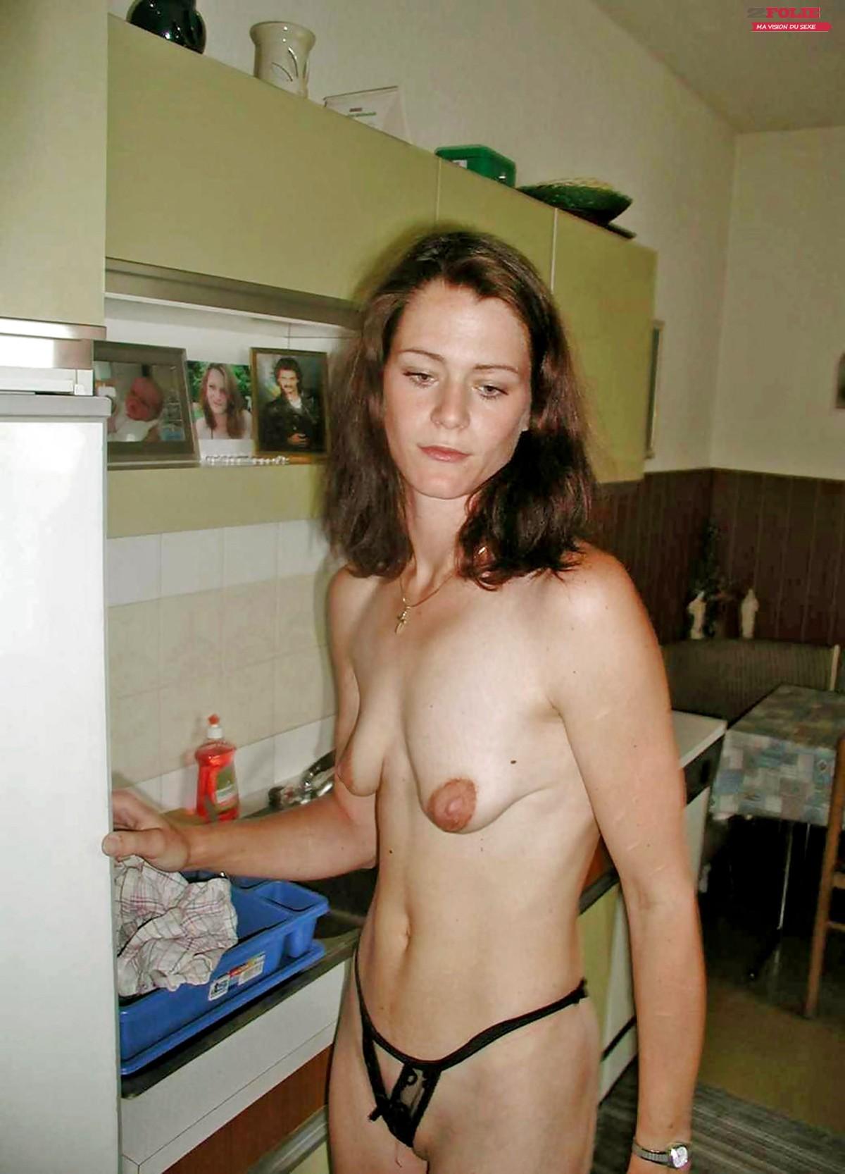 Отвисшая маленькая грудь
