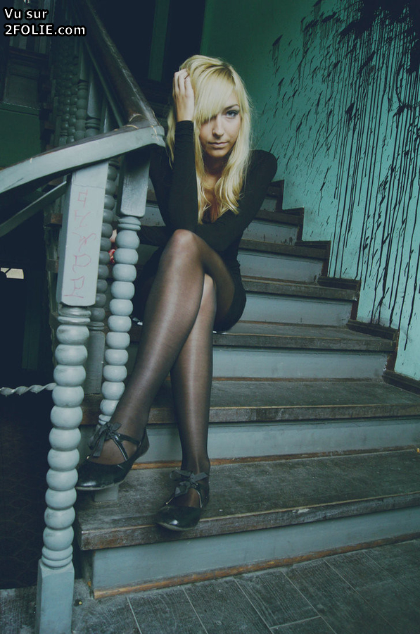 Noir Nylon - Femmes en bas, collants, nylon noirs