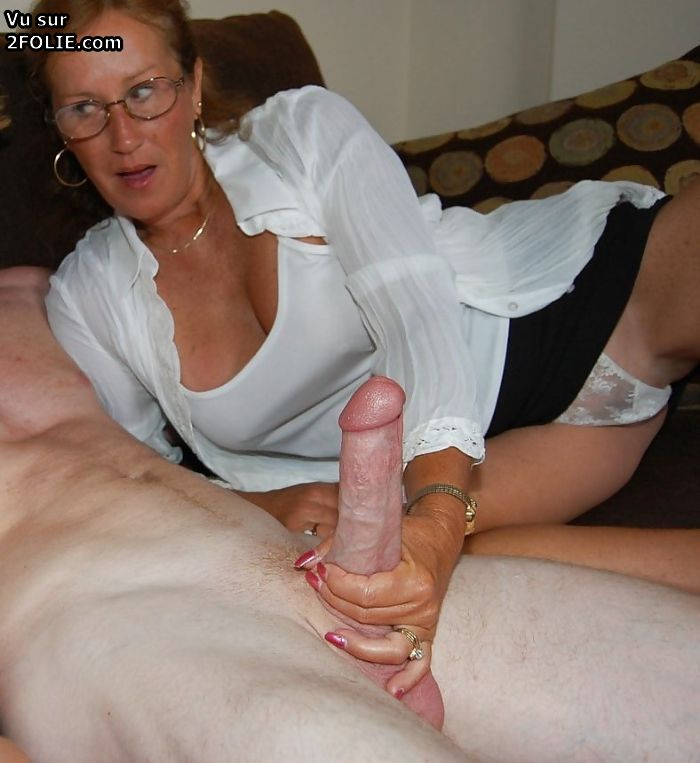 Mother caught him jerk and helps with fuck 5