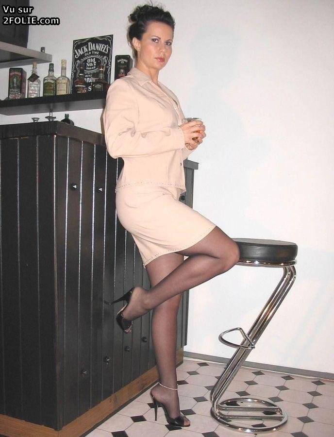Sexe exclusif de collants matures