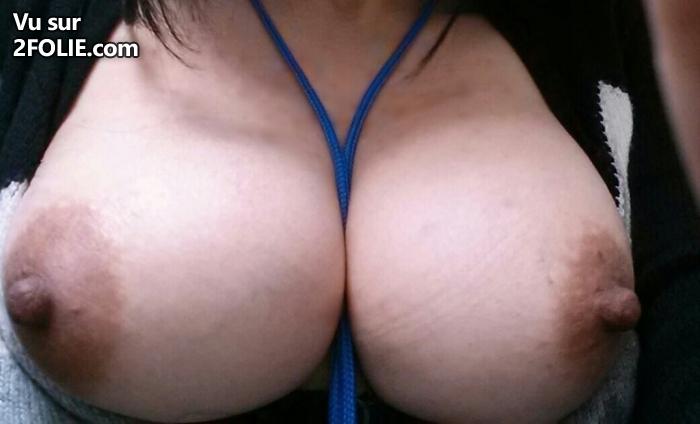 fille sexy sein nina salope