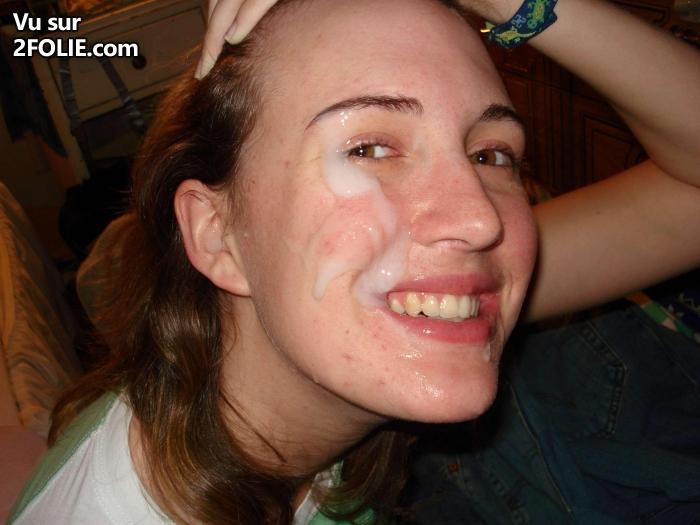 Cum mature sur le visage